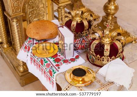 Wedding  Attribut in the Orthodox Church #537779197
