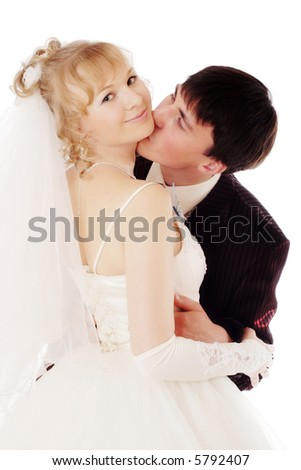Wedding background: A couple on their wedding day