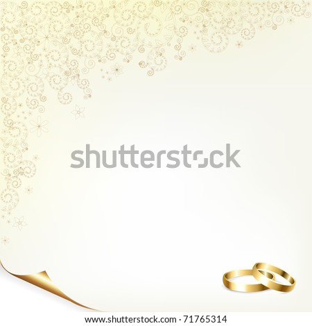 stock photo Wedding Background With Gold Rings