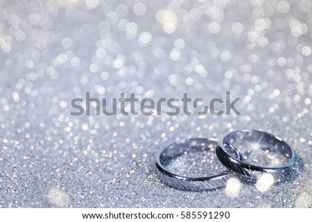 Wedding background with rings #585591290