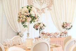Wedding banquet decoration in tender color