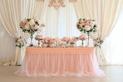 wedding banquet main table decoration.