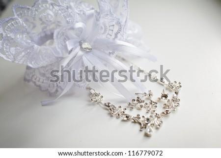wedding Beautiful adornment on white