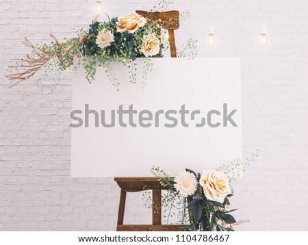 Wedding Board Mockup #1104786467