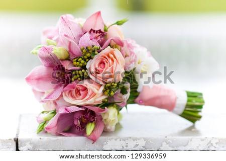 wedding bouquet, flowers, roses, beautiful bouquet