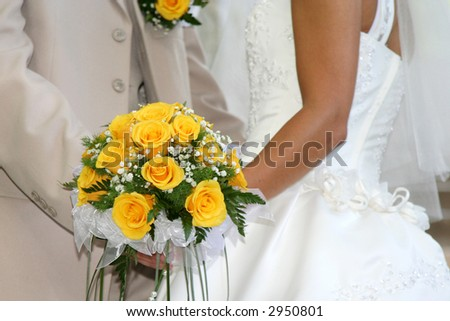 Wedding Bouquet From Yellow Roses. 2