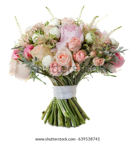 wedding bouquet isolated on white #639538741