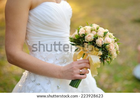 Wedding Bouquet of White Roses  #223928623