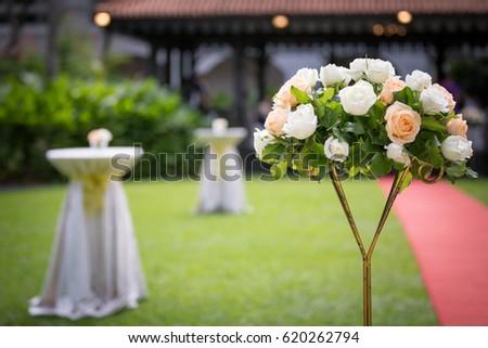 Wedding bouquet taken at wedding in hotel #620262794
