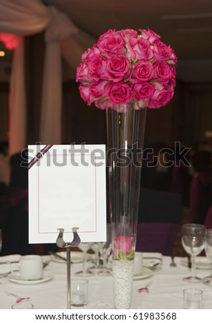 Wedding breakfast table setting with blank copy space for your text