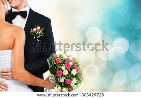 Wedding, Bride, Groom. Stock photo ©