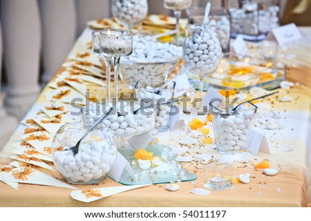 stock photo Wedding buffet with candies and bonbons