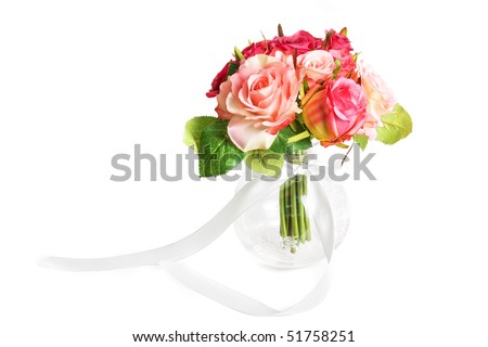 wedding bunch of flowers on a white