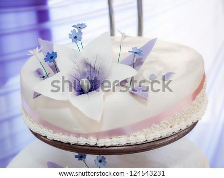 Wedding cake detail - stock photo