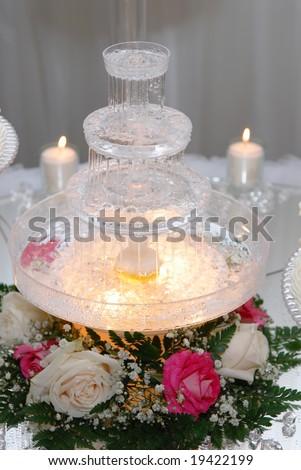 stock photo Wedding cake fountain