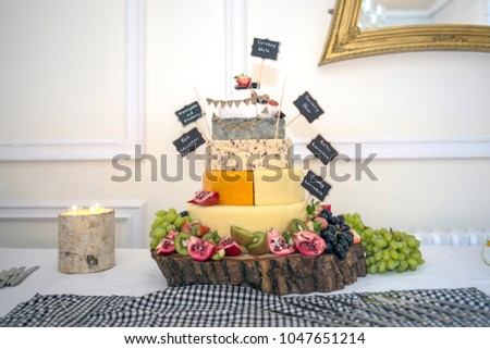 Wedding Cake made of Cheese
