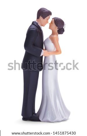 Wedding Cake Topper Isolated on White Background. Foto stock ©
