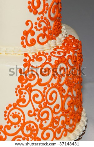 Wedding cake with an Indian flare