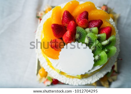 Free Photos Birthday Cake With Fruits On A Background Of The Sea