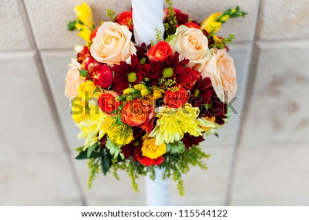 Wedding candle bouquet