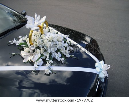 Wedding  Decorations on Stock Photo Wedding Car Decoration 1979702 Jpg
