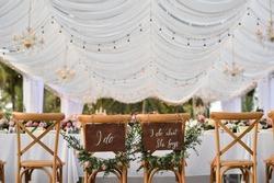 wedding ceremony setup dinner table
