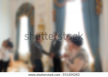 Wedding ceremony theme creative abstract blur background with bokeh effect #355204283