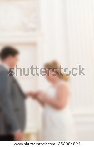 Wedding ceremony theme creative abstract blur background with bokeh effect #356084894