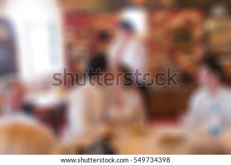 Wedding ceremony theme creative abstract blur background with bokeh effect #549734398