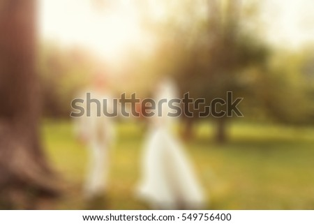 Wedding ceremony theme creative abstract blur background with bokeh effect #549756400