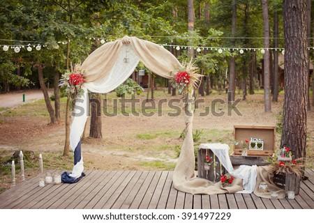 Free photos wedding ceremony wedding decorationswedding archway wedding ceremony wedding decorationswedding archwaywedding archway in rustic style 391497229 junglespirit Images