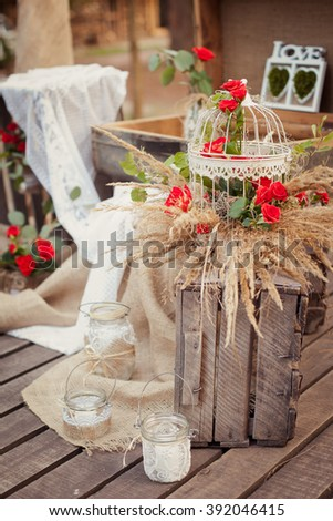 Wedding ceremony & Wedding decorations/Wedding Archway/Wedding Archway in rustic style #392046415