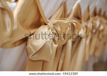 stock photo Wedding chairs