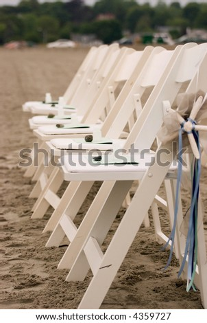 Wedding chairs on the Beach