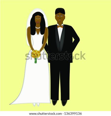 Wedding Couple Both African