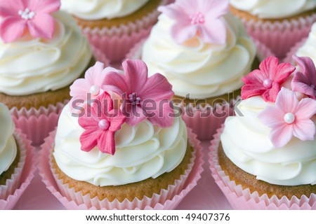 stock photo Wedding cupcakes