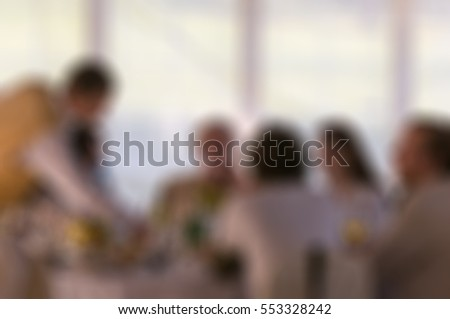 Wedding day theme creative abstract blur background with bokeh effect #553328242