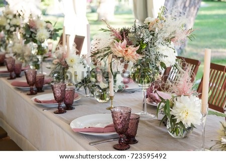 wedding decor and floristics #723595492