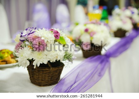 wedding decor at restaurant with all beauty and flowers