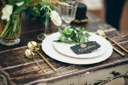 wedding decor, flowers, black and gold decor, candles
