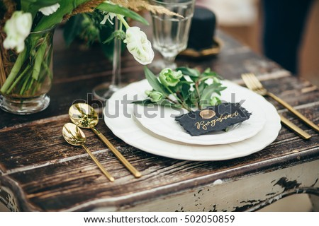 wedding decor  flowers  black...