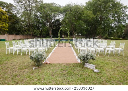 Wedding Decor Home Wedding Decor Home Wedding decor chairs ceremony lawn pool landscape with guests lunch dinner table settings on porch veranda of mansion home.
