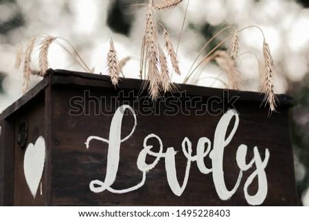 wedding decor lettering.decor for lovers.