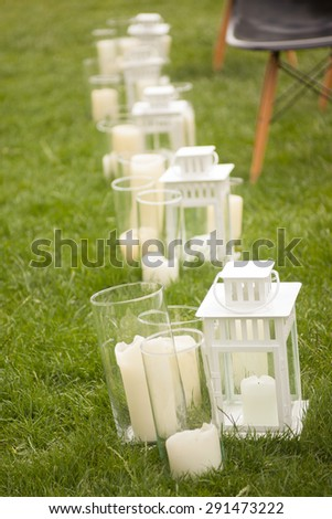 wedding decor on nature in summer day