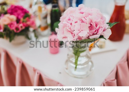 wedding decoration in pink style