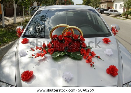 stock photo Wedding decoration on the hood of a car. Eliz s blog  Here 39s some useful information on bridal hairstyles