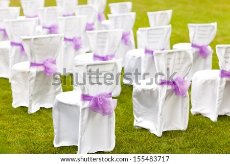 Wedding decoration. The wedding ceremony.