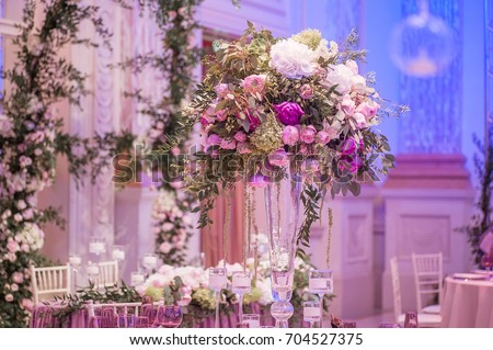 wedding decoration with flowers. picture with soft focus #704527375