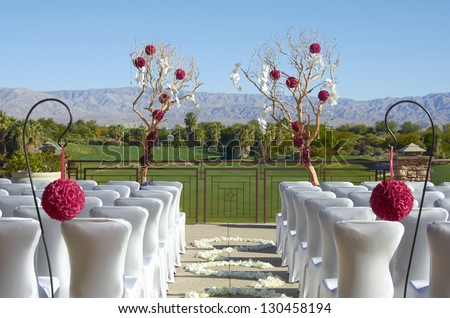 Wedding Decorations Beautiful outside wedding decorations and set up.
