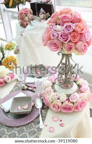 Wedding Decorations On Table Stock Photo 39119080 : Shutterstock